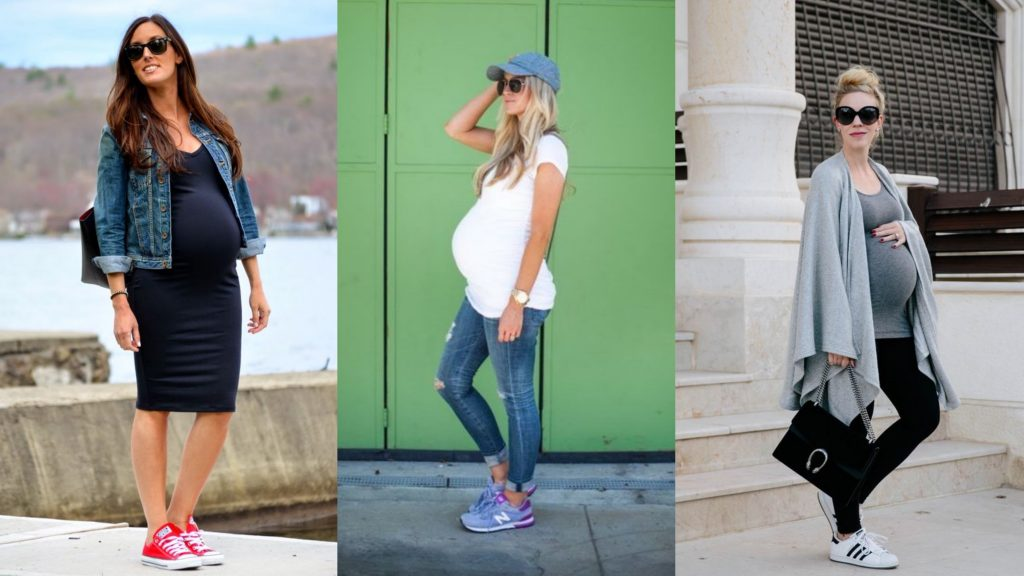 Three Women wearing a Casual Pregnancy Wear and Sneakers - Single Mothers Asia SupermomGlobal