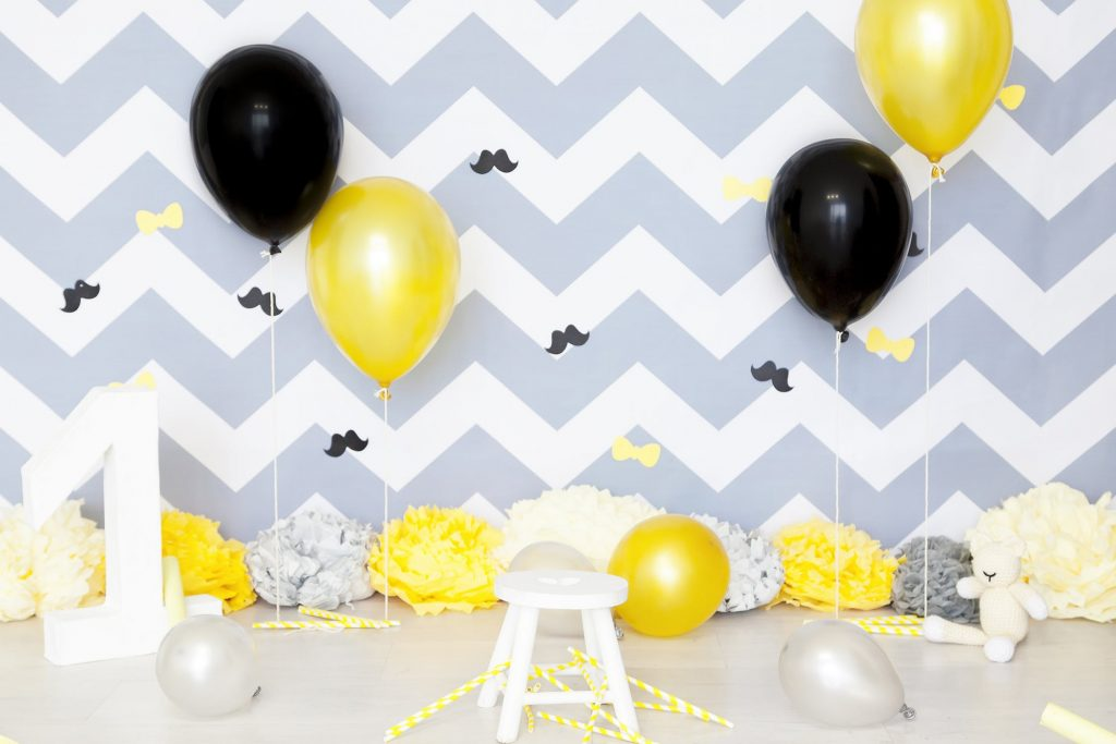 Black and Yellow Balloon Decors - Communities for Mums SuperMomGlobal