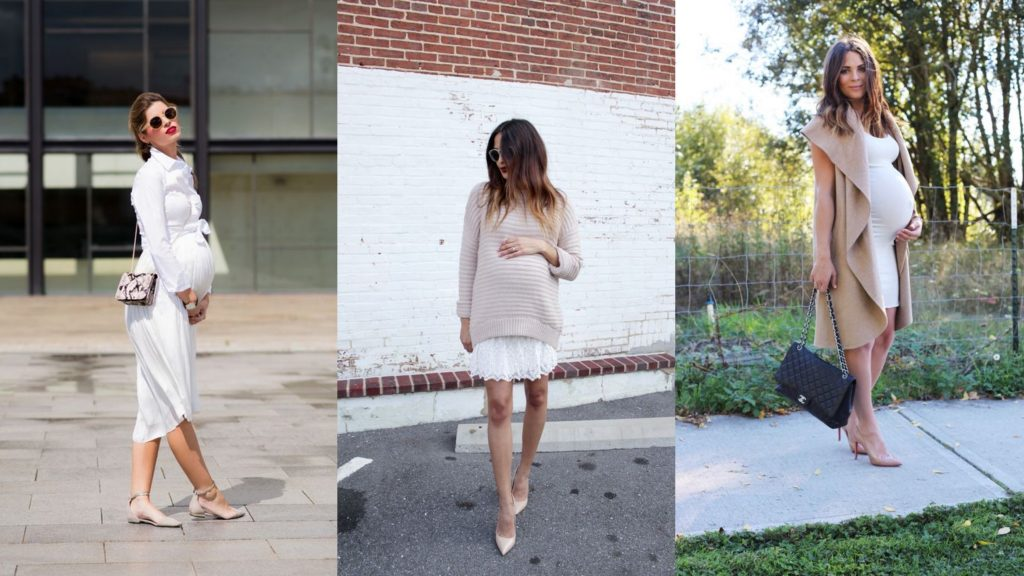 Three Women wearing Sophisticated Maternity Dress - Cosmopolitan Lifestyle SupermomGlobal