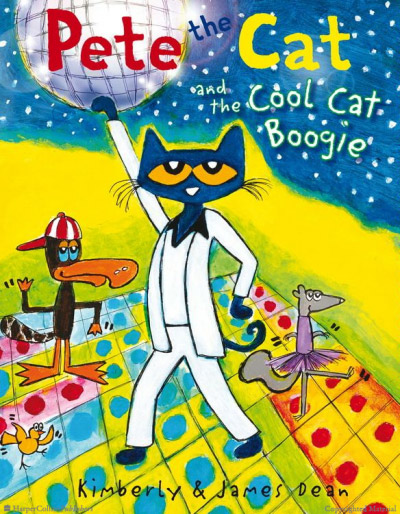 "A poster that says ""Pete the Cat and the Cool Cat Boogies"" - SupermomGlobal"